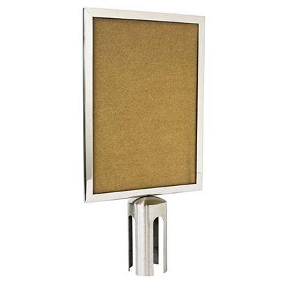 Immagine di Pannello informativo, Beta Board, formato A4 in posizione verticale, cornice in acciaio Inox