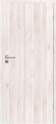 Immagine di Porta da interno reversibile, colore rovere chiaro, telaio 10 cm, 70x210 cm