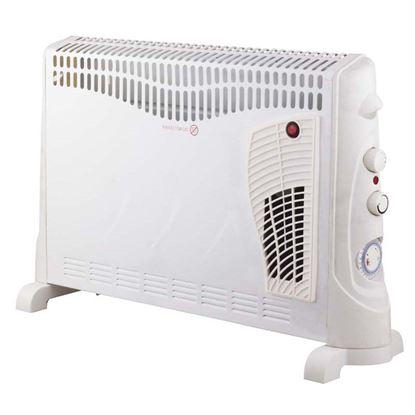 Immagine di Termoconvettore da pavimento 3 regolazioni di potenza 750/1250/2000 W, termostato regolabile, appendibile a parete, protezione anti surriscaldamento, con timer e funzione turbo, 59,5x20x42 cm