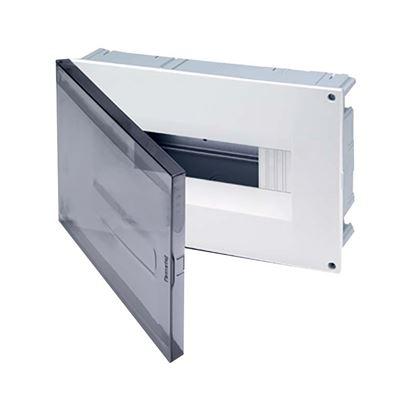 Immagine di Centralino Incasso da parete e cartongesso 8-12 moduli, portello trasparente, IP40