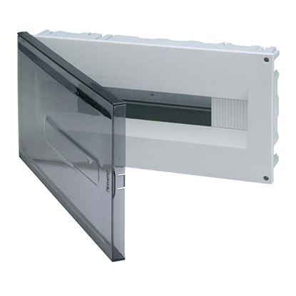 Immagine di Centralino Incasso da parete e cartongesso 12-18 moduli, portello trasparente, IP40