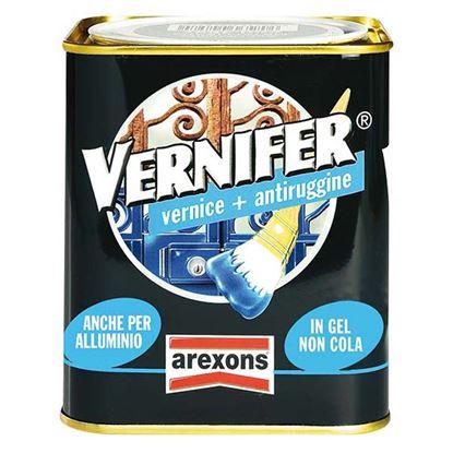 Immagine di Vernifer smalto antiruggine, con vernice di finitura in gel, applicazione direttamente sulla ruggine, 750 ml, colore bianco