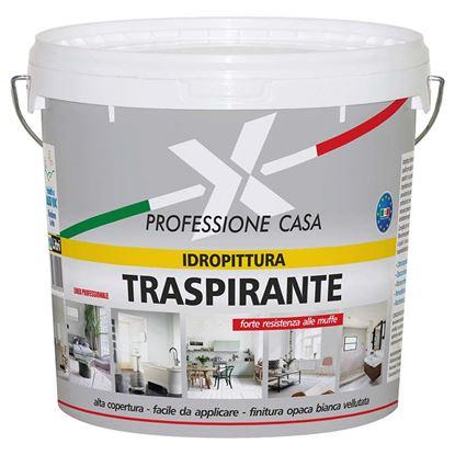 Immagine di Idropittura traspirante professione  casa, alta copertura, colore bianco, 14 lt