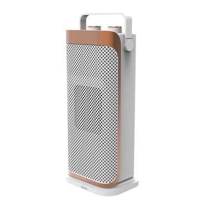 Immagine di Termoventilatore oscillante ceramico 2 regolazioni di potenza 1000/2000 W, termostato regolabile, dispositivo di sicurezza anti ribaltamento, maniglia integrata