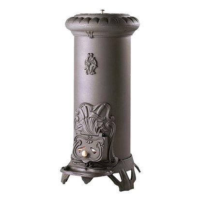 Immagine di Stufa a legna Sologne 8 kW, rendimento 75%, 41x51xH91,5 cm, 58 kg, colore antracite