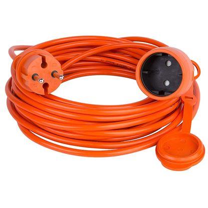 Immagine di Cavo liscio 2X1,5 mm², spina e presa shuko, colore arancione, 15 mt