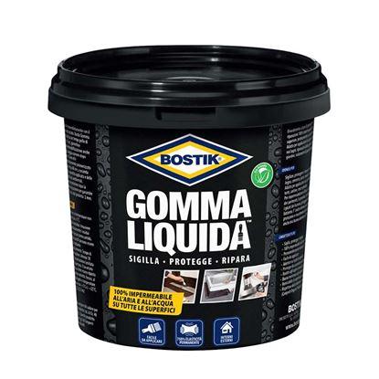 Immagine di Gomma liquida Bostik, 100% impermeabile, per tutte le superfici, sigilla protegge, ripara crepe, 0,75 lt