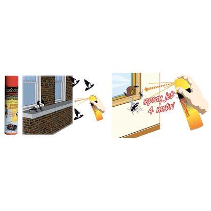 Immagine di Insetticida PUNTO& BASTA!, spray specifico per eliminare nidi di  vespe e calabroni, getto di oltre 4 mt, 600 ml