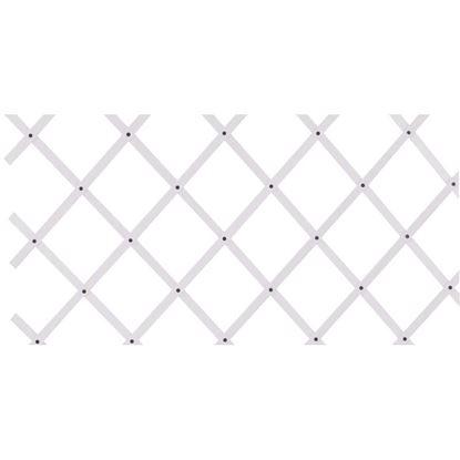 Immagine di Traliccio estensibile plastica bianca, 100x200 cm