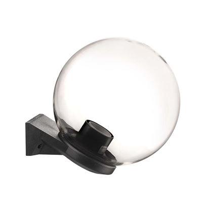 Immagine di Appliquea sfera Ø250 mm, base in plastica nera, trasparente