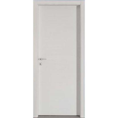 Immagine di Porta mara scracht bianco, telaio bombato, reversibile, accessori cromo satinato, 88x214 cm