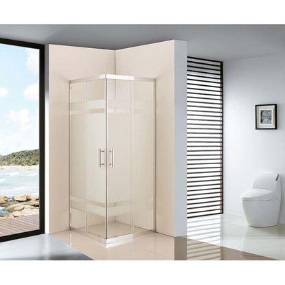 Immagine di Box doccia Stella, profilo cromato, 67,5/69x87,5/89xH.185 cm